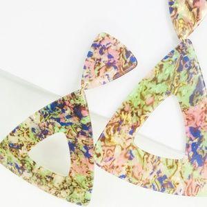 Closet Rehab Jewelry - Triangle Drop Earrings in Pastel